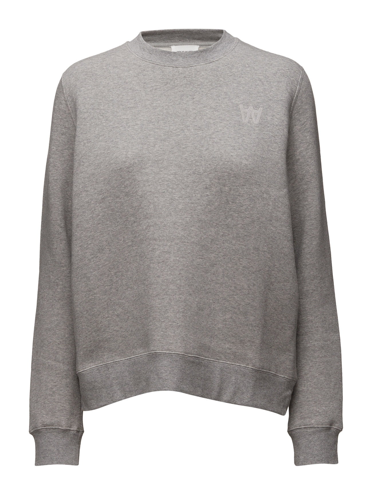 Wednesday Sweatshirt Wood Wood  til Damer i Grey Melange
