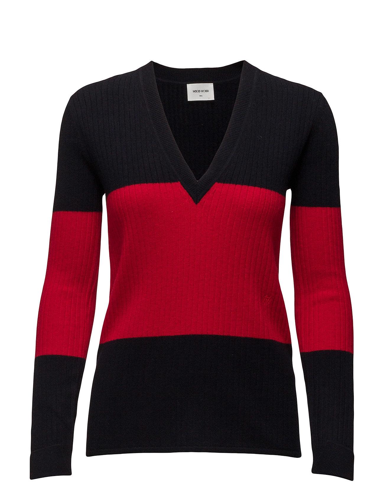 Julia Longsleeve Wood Wood Sweatshirts til Damer i Darknavy