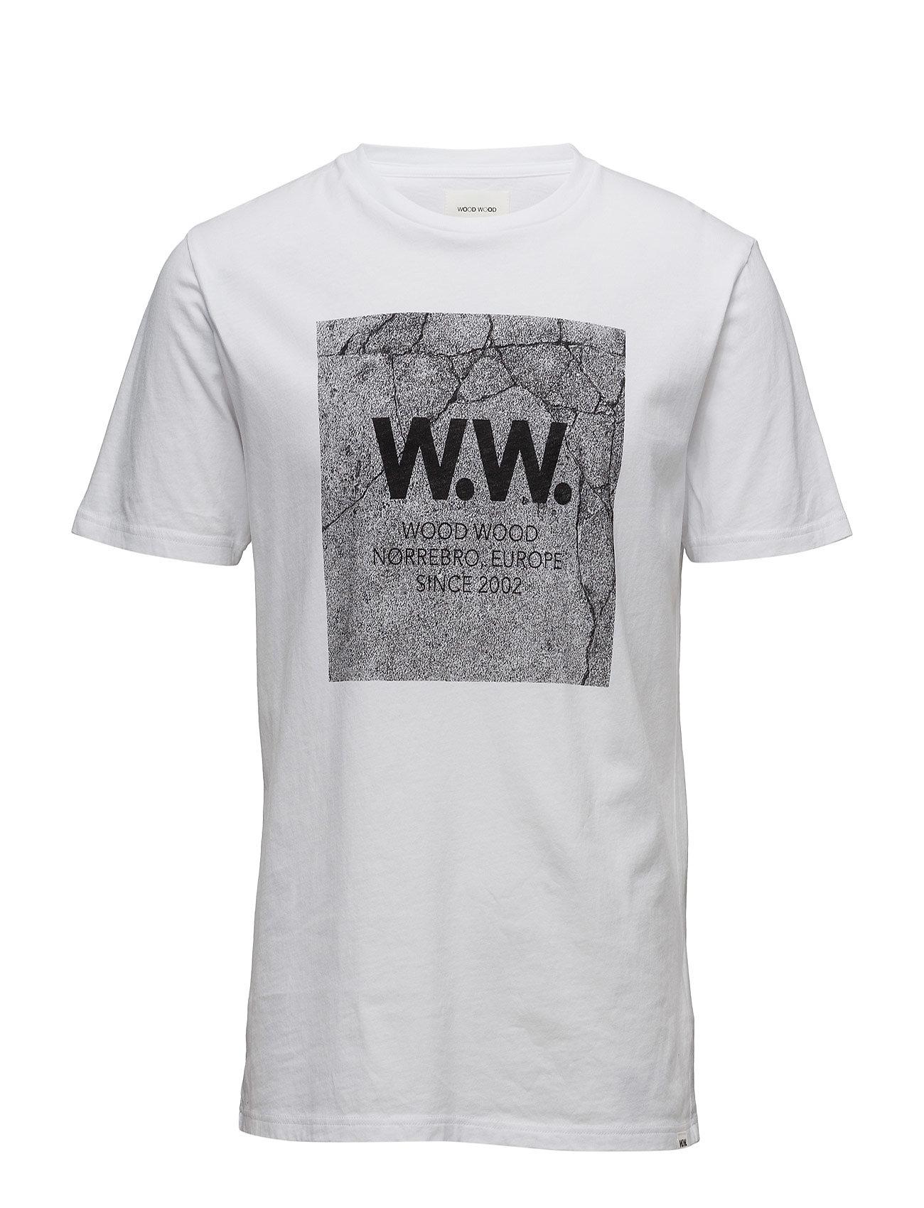 Concrete Square T-Shirt Wood Wood Kortærmede til Mænd i hvid