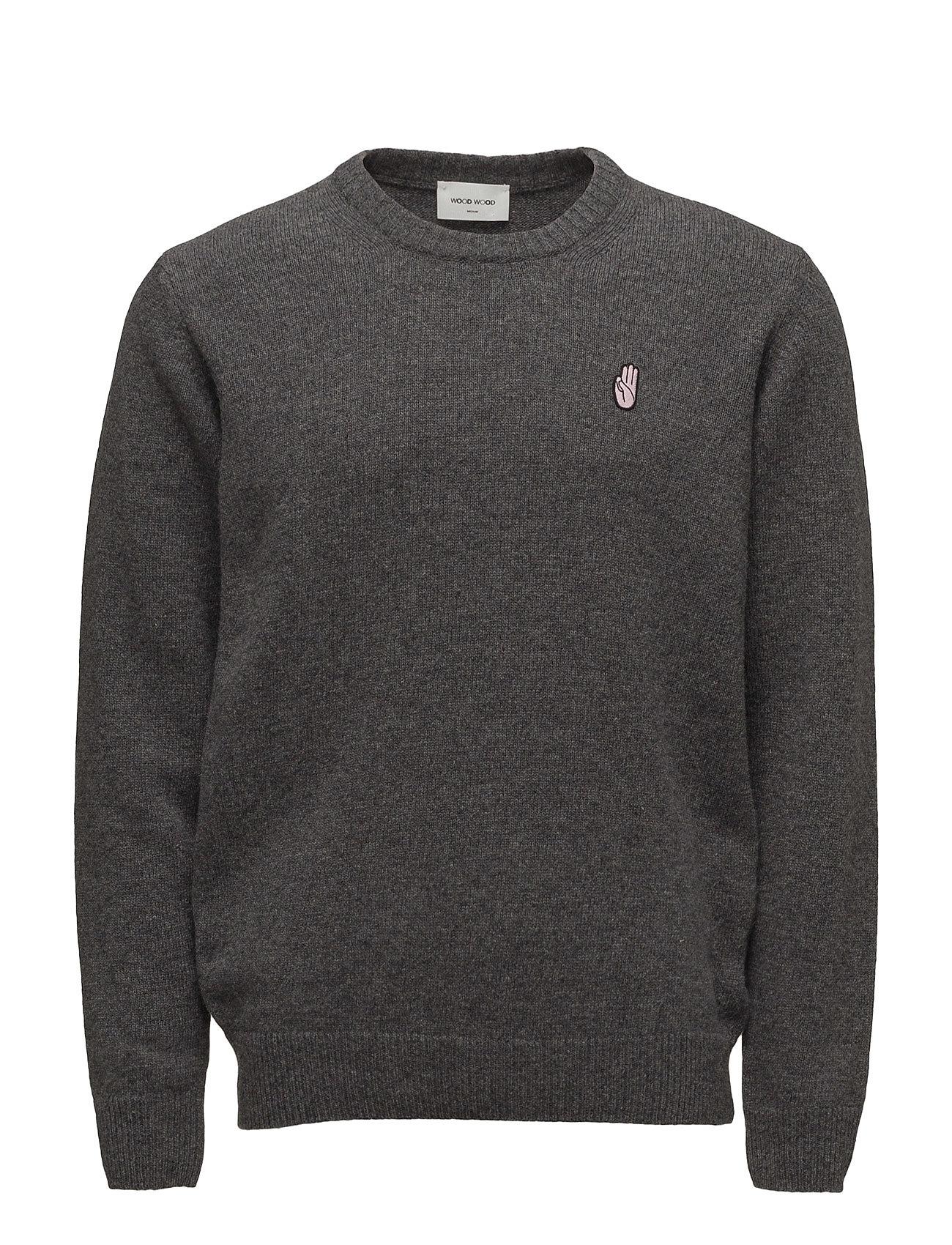 Yale Sweater Wood Wood Rundhalsede til Herrer i Grey Melange