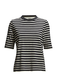 Adda T-shirt - NAVYSTRIPE