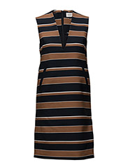 Jenna dress - DARKNAVYSTRIPE