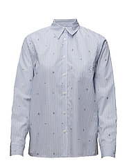 Lori shirt - WHITE/BLUE