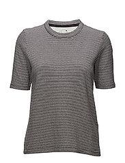 Adda T-shirt - BLACK/WHITE