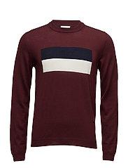 Leon sweater - BURGUNDY
