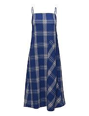 Aida dress - BLUE CHECK