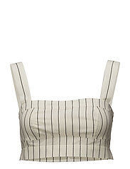 Carola top - OFF-WHITE PINSTRIPE