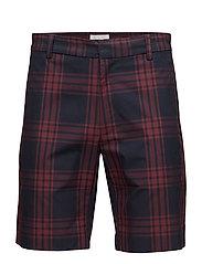 Paolo shorts - NAVY CHECK