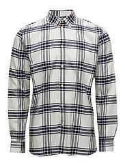 Piero shirt - NAVY/OFF-WHITE CHECK