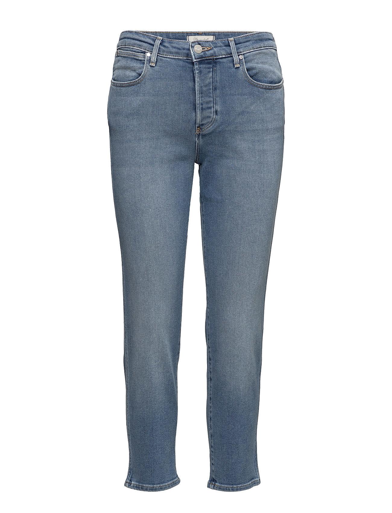 Cropped Straight  Blue Jean Baby Wrangler Bukser til Damer i