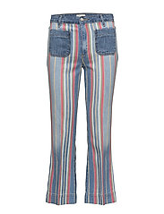 CROPPED FLARE  DISCO STRIPES - DISCO STRIPES