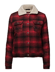 SHERPA JACKET RED - RED