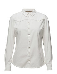 FRINGES SHIRT IVORY - IVORY
