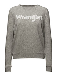LOGO SWEAT - MID GREY MEL