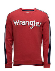 WRANGLER SWEAT - SCARLET RED