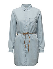 SHIRT DRESS LIGHT INDIGO - LIGHT INDIGO