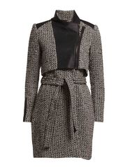 ELLY WOOL TRENCH COAT - A13 // H - Black