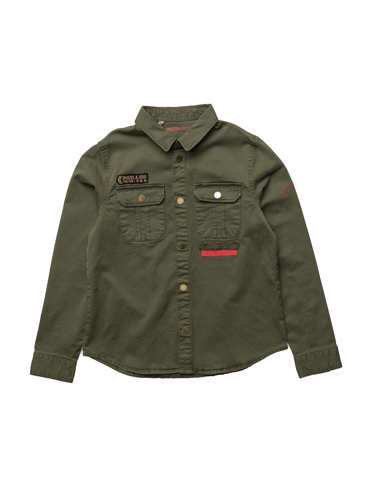 Shirt Zadig & Voltaire  til Børn i khaki