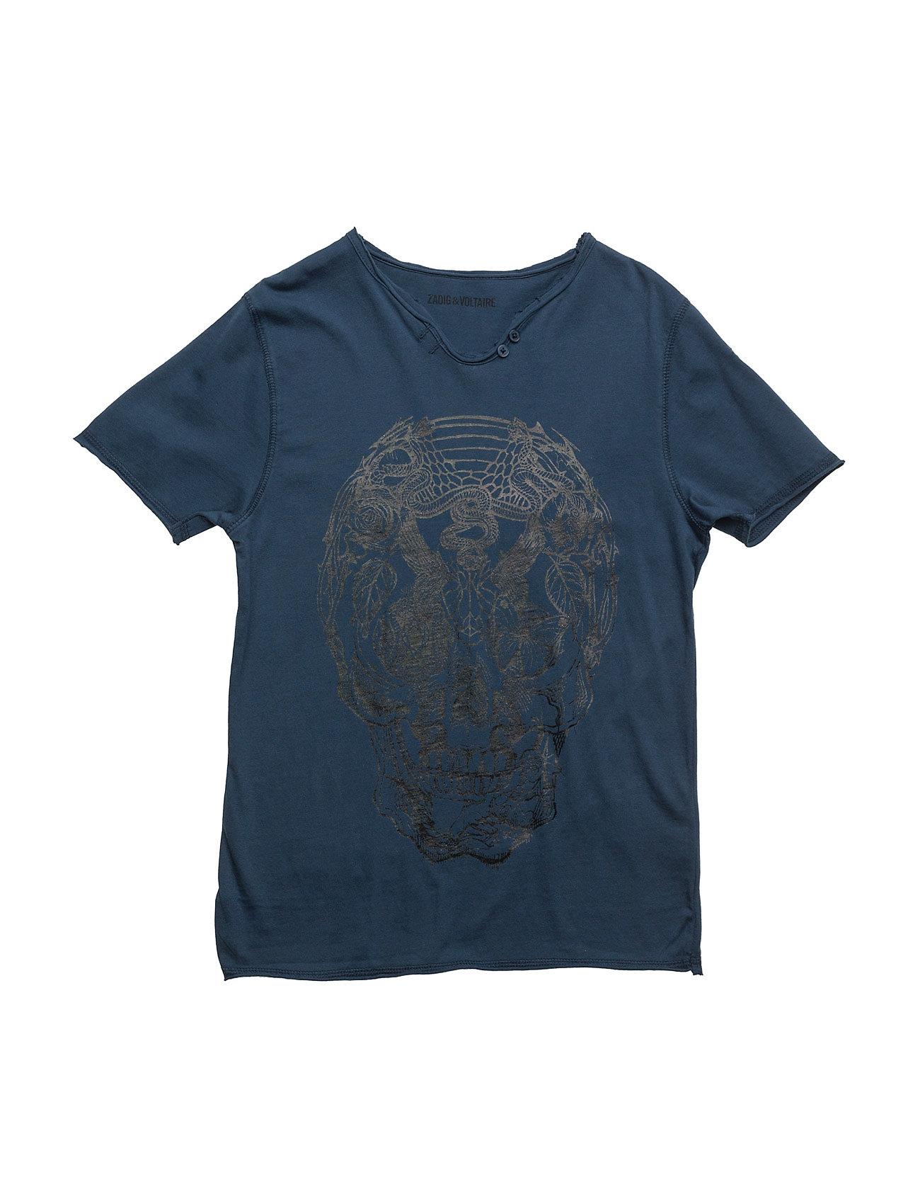 Short Sleeves Tee-Shirt Zadig & Voltaire Kortærmede t-shirts til Børn i Blå