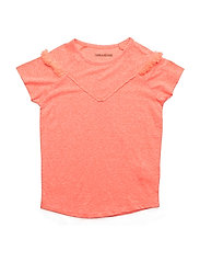SHORT SLEEVES TEE-SHIRT - CORAIL FLUO