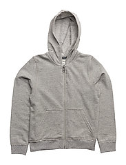 FLEECE CARDIGAN - GREY MARL