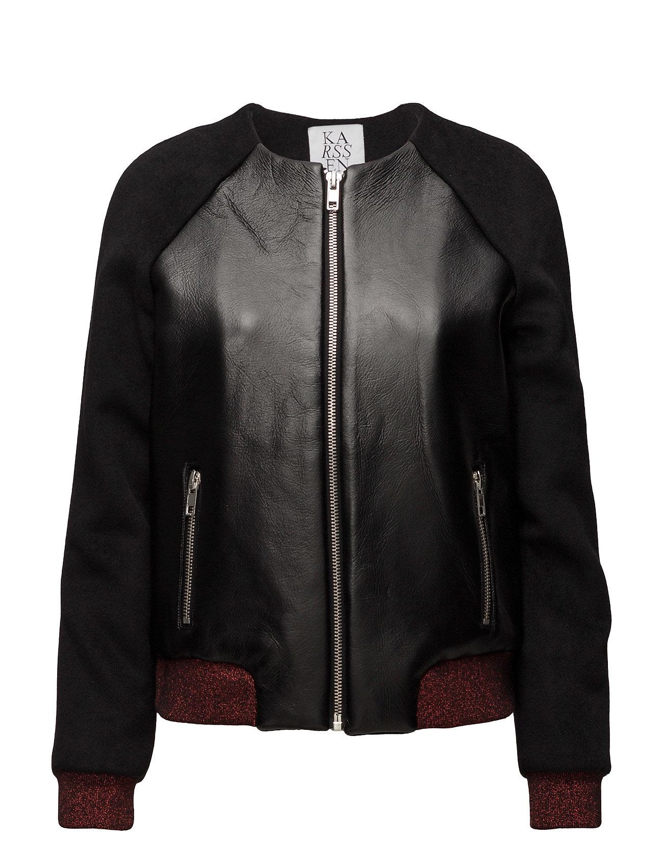 zoe karssen – Bomber jacket contrast lurex rib på boozt.com dk