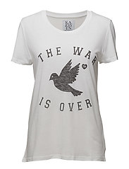 LOOSE FIT TEE THE WAR IS OVER - OPTICAL WHITE