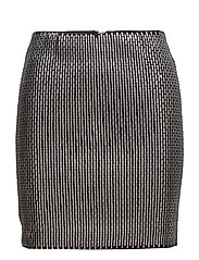 SLIM FIT MINI SKIRT METALLIC EMBELLISHMENT - DEEP BLACK
