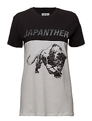 LOOSE FIT T-SHIRT JAPANTHER - OPTICAL WHITE/JET BLACK