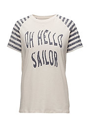 LOOSE FIT T-SHIRT OH HELLO SAILOR - IVORY