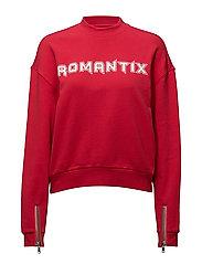LOOSE FIT SWEAT ROMANTIX - TOMATO