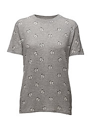 CARTOON EYES ALL OVER - GREY HEATHER
